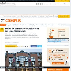 Ecoles de commerce: quel retour sur investissement ?