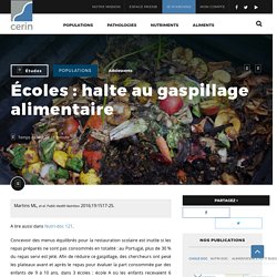 Écoles : halte au gaspillage alimentaire - CERIN