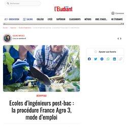 LA PROCEDURE FRANCE AGRO 3