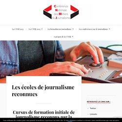 Les écoles de journalisme reconnues