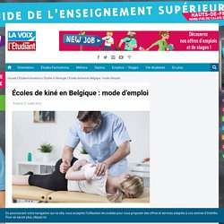 Écoles de kiné en Belgique : mode d'emploi