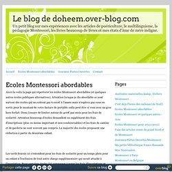 Ecoles Montessori abordables - Le blog de doheem.over-blog.com