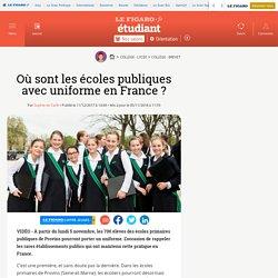 Le Figaro - Où sont les écoles publiques avec uniforme en France ?