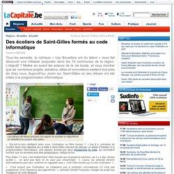 Mars 2016 Des écoliers de Saint-Gilles formés au code informatique
