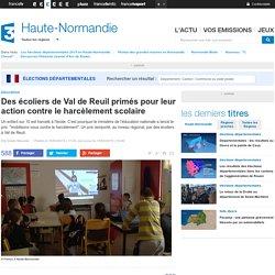Des écoliers de Val de Reuil primés pour leur action contre le harcèlement scolaire - France 3 Haute-Normandie