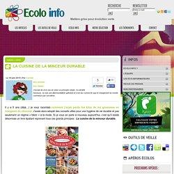 Livre La cuisine de la minceur durable - Ecolo Info