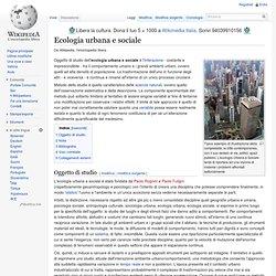 Ecologia urbana e sociale