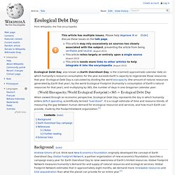 Ecological Debt Day