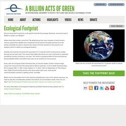 About Ecological Footprint