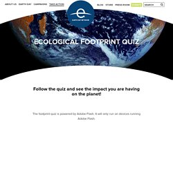 Ecological Footprint Quiz