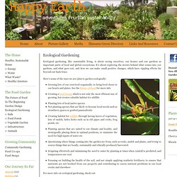 Ecological Gardening - Happy Earth