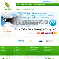 Ecological Footprint Quiz by Center for Sustainable Economy