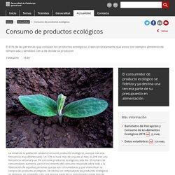 Consumo de productos ecológicos. Generalitat de Cataluña