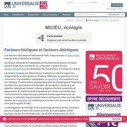 MILIEU, écologie, Facteurs biotiques et facteurs abiotiques
