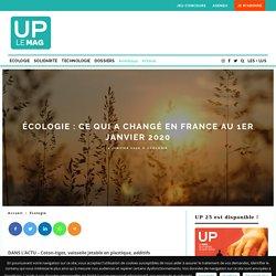 Écologie : ce qui a changé en France au 1er janvier 2020