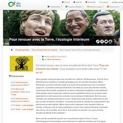 Pour renouer avec la Terre, l'écologie intérieure - Les Amis de la Terre-Belgique