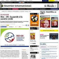 ÉCOLOGIE • Rio + 20 : la parole à la société civile