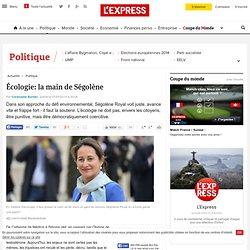 Écologie: la main de Ségolène