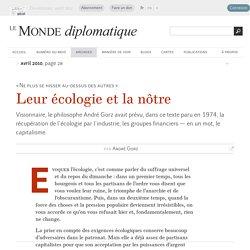 Leur écologie et la nôtre, par André Gorz