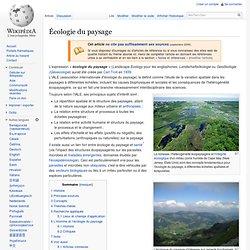 Écologie du paysage