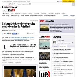 Sarkozy f ch avec l' cologie : les quatre bourdes du Pr sident
