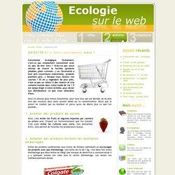 Ecologie sur le web : comment mieux consommer?
