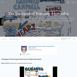 The Ecologies of Yearning #opened12 (with image, tweets) · audreywatters