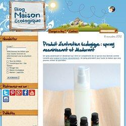 Produit d'entretien écologique : spray assainissant et déodorant