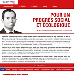 Pour un progrès social et écologique