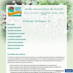 Jardinage écologique 101 - Jardin Communautaire de Bromont