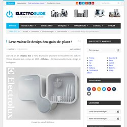 Lave-vaisselle design & écologique