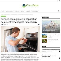 Pensez écologique : la réparation des électroménagers défectueux - Consofutur