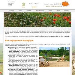 Un lieu écologique - Le hameau des coquelicots