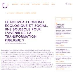 Le nouveau contrat écologique et social, une boussole pour l'avenir de la transformation publique ?