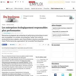 Les entreprises écologiquement responsables plus performantes