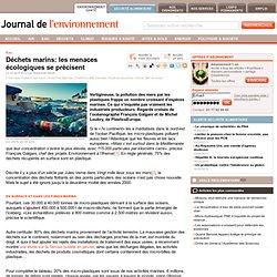 Déchets marins: les menaces écologiques se précisent