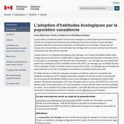 L'adoption d'habitudes écologiques par la population canadienne
