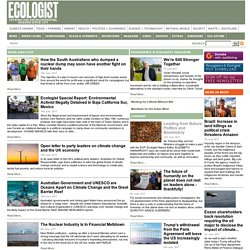 Environment & Climate Change news & features plus green living advice