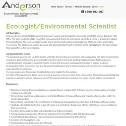 Ecologist/Environmental Scientist – Anderson Environmental