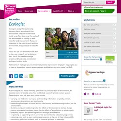 Ecologist job information