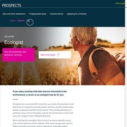 Ecologist job profile