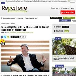 Des écologistes d'EELV choisissent La France insoumise et Mélenchon