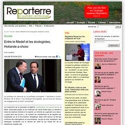 Entre le Medef et les écologistes, Hollande a choisi