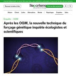 REPORTERRE 28/07/20 Après les OGM, la nouvelle technique du forçage génétique inquiète écologistes et scientifiques