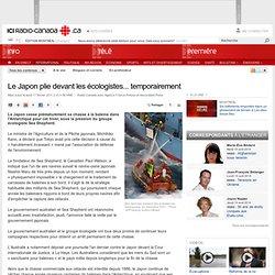 Chasse à la baleine : Le Japon plie devant les écologistes... temporairement