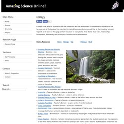 Ecology - Amazing Science Online!