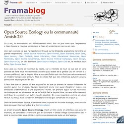 Open Source Ecology ou la communauté Amish 2.0 - Framablog-Mozilla Firefox