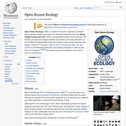 Open Source Ecology (project)