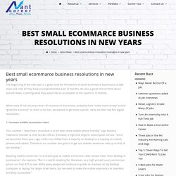 Best small ecommarce business resolutions in new years