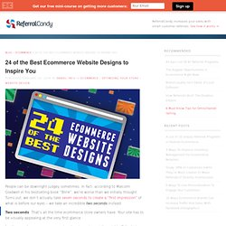 24 of the Best Ecommerce Website Designs to Inspire You - Customer Acquisition and Referral Marketing blog